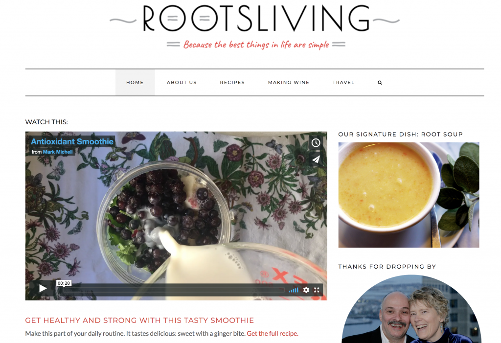 homepage of rootsliving.com