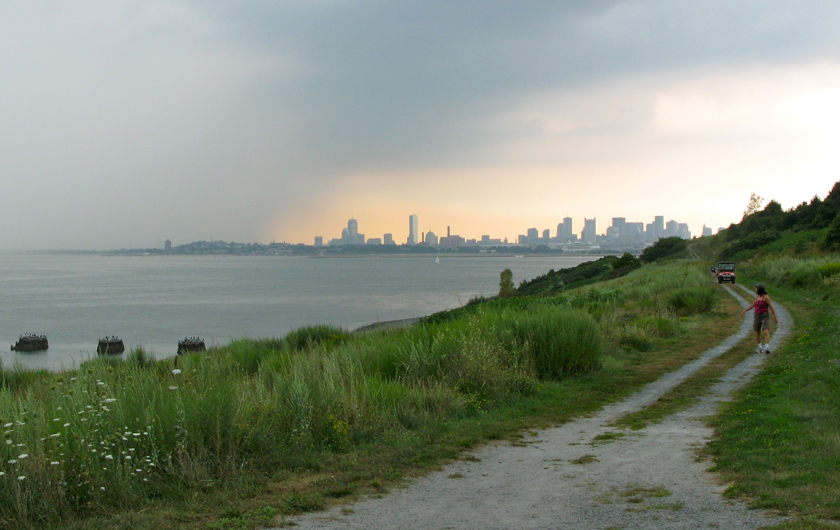 Spectacle Island And Boston Skyline Mark Micheli